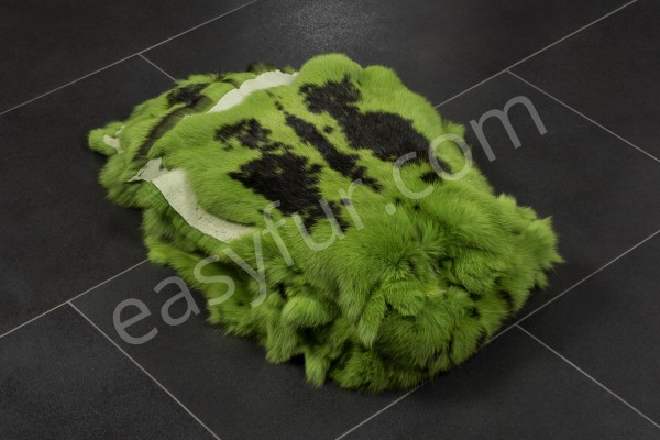 Rabbit Fur Skins - Light Green with Flecks