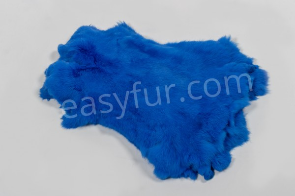 Rabbit Fur Skins Blue