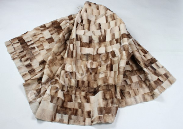 Mink Fur Plate in Beige (Sheared Quality)