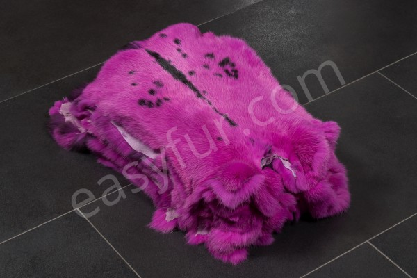 Rabbit Fur Skins - Flecked Fuchsin