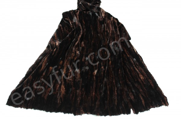 Mink Fur Plate in Dark Brown (Sheared)