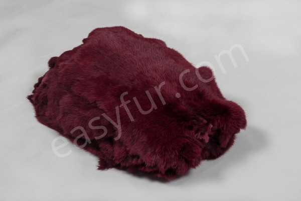 Rabbit Fur Skins - Red Berry