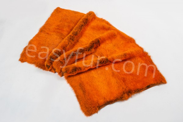 Rabbit Fur Plates - Orange