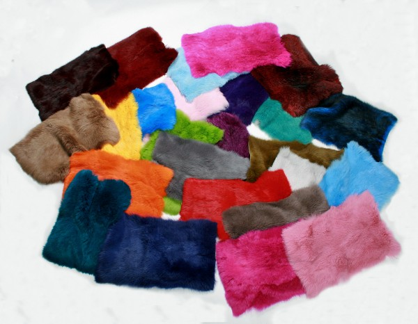 Various Fur Colorations for Rabbit Furs