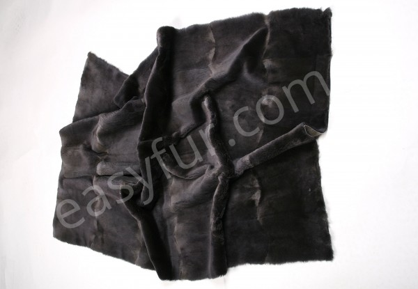 Muskrat Fur Plate in grey - sheared quality (Fur Harvesters)