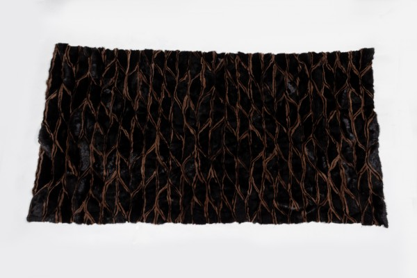 Mink Fur Plates in Black Brown