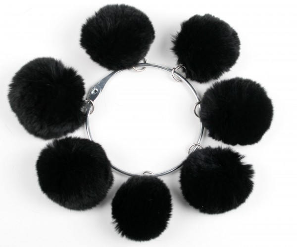 Black rex rabbit pom pom