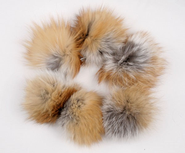 Canadian Red Fox fur pom poms