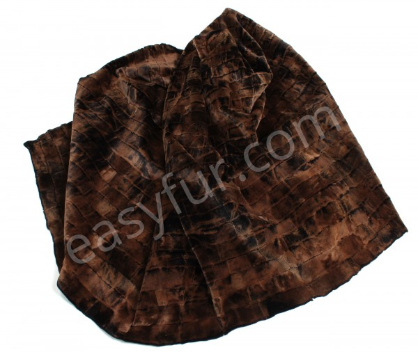Mink Fur Body Plate in Snow Top dark Brown