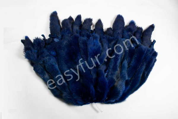 Colored European Red Fox Skins - Blue-Copy
