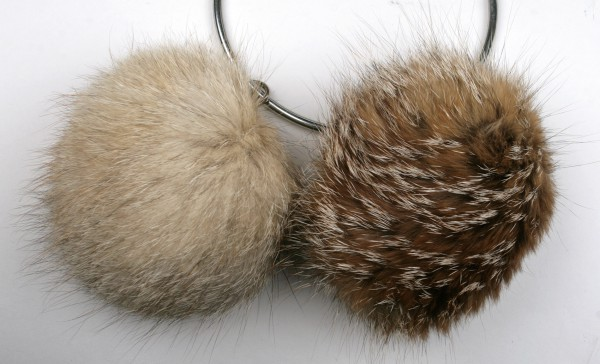 Kit fox fur pom poms