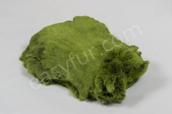 European Rabbit Skins - May Green