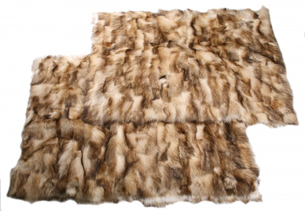 Raccoon jacket fur body neck (bleached)